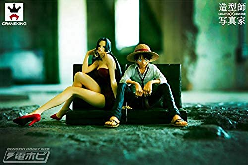 tiempo libre Japan Oficial Set Set Set Figure One Piece Creator X Creator Boa Hancock 2 II Monkey D. Luffy RUFY  1  forma única