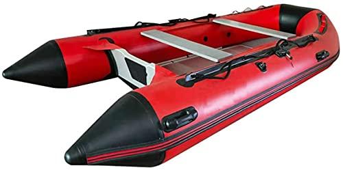 QZWGZ Nuevo barco inflable de 10 pies,Kayak inflable,Espesar 4-5 persona piso de aluminio independiente cámara de aire pesca rafting rescate
