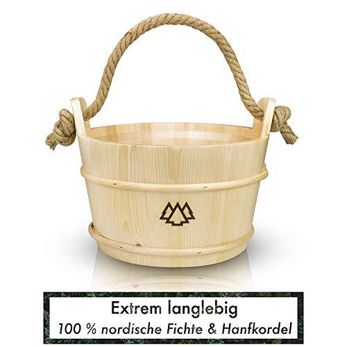 Sauna Eimer mit Kelle (nordische Fichte)