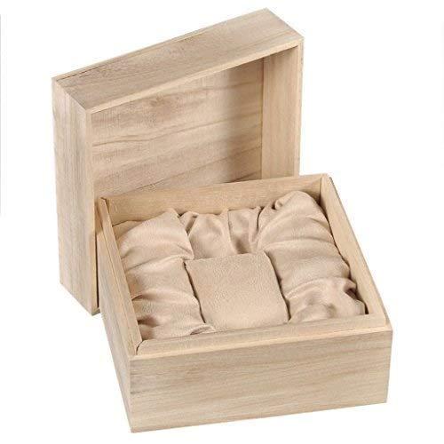 SMEJS Uhrenbox for Herren Bambus Holz Uhrenbox Display Aufbewahrungshalter Organizer Single Grid Geschenkbox