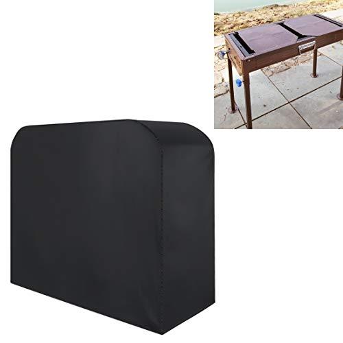 Portable Sac de rangement anti-UV étanche anti-poussière 210D Oxford Tissu Housse de protection pliant BBQ extérieur gaz charbon électrique Barbecue Grill Cover, Taille: 190 * 71 * 117cm (Noir)