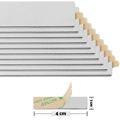 Selbstklebende Magnete für Magnettafel, Kühlschrank, Pinnwand und Whiteboard I Extra starker...