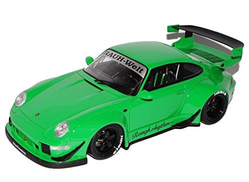 GT Spirit Porsche 911 993 RWB Rauh Welt Grün 1993-1998 Nr 74 1/18 Modell Auto