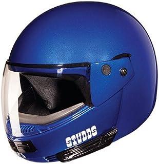 Studds Full Face Helmet Ninja Pastel (Plain Matt Blue, M)