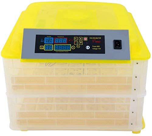 LYRONG Incubadora de Huevos Automática, Incubadora Digital con Control de Humedad y de Temperatura Máquina, función de Giro automático de Huevos, para Aves de Corral,96 Eggs