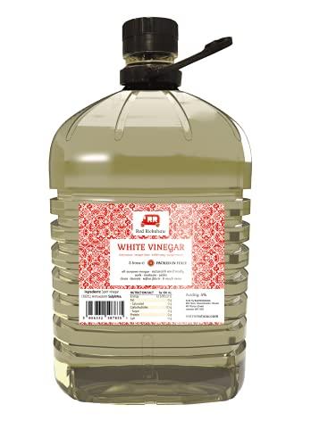 Scopri offerta per Red Rickshaw Aceto Bianco Bottiglia da 5 Litri (1 Confezione) - Utilizzato per pulire, decapare, maritare, fare il bucato e uccidere le erbacce