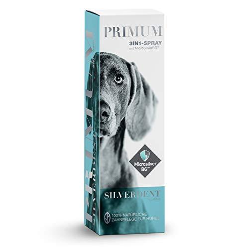 Primum | SilverDent 3in1 | Spray 75ml | 100% natürliche Zahnpflege für Hund und Katze | Gegen Zahnstein, Karies und Zahnfleischentzündungen | Schützt vor Bakterien | Gegen unangenehmen Mundgeruch