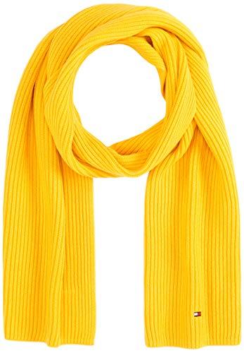 Tommy Hilfiger Herren PIMA COTTON CASHMERE SCARF Schal, Gelb (Yellow Zcm), One Size (Herstellergröße:OS)