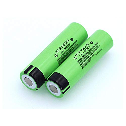 N/D 3.7 v 3400mah GrüNe Batterien, Original Ncr18650b Lithium Wiederaufladbare Batterie für Taschenlampe Und Andere Home Electronic Products Zubehör 18*65mm/0.7*2.6in 2PCS