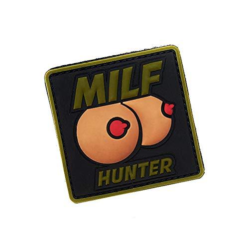 Copytec Milf Hunter - Parche de Goma en 3D, Divertido, para Hombre, 6,3 x 6,3 cm