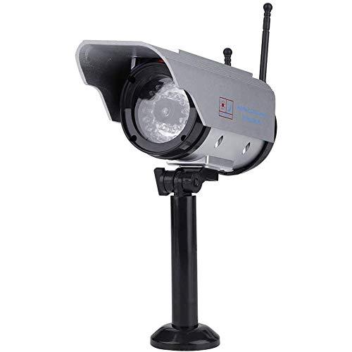 Boenxuan Dummy Kamera, LED Attrappe Camera Sicherheitskamera Fake Überwachungskamera wasserdichte Solar Power Fake/Dummy Kamera Innen,Schwarz