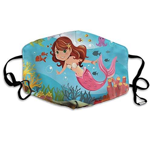 Caiq Bandanas, uniseks, volledige dekking, tube voor gezicht, met uv-bescherming, hals en gamas, hoofdband, Fairy Mermaid zwemmen onder water