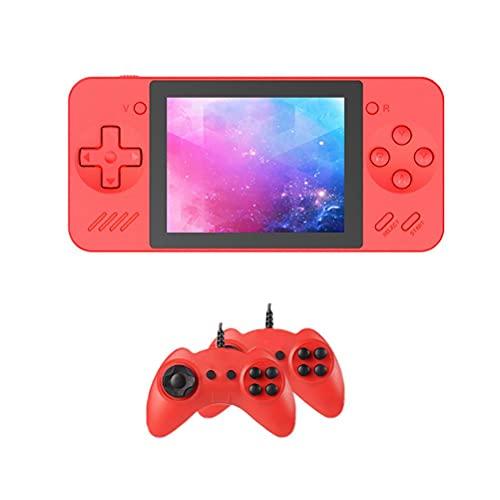 POXIAO Consola de Juegos portátil Pantalla de 3,5 Pulgadas Mini Consola de Juegos Retro con 600 Juegos clásicos incorporados Consola de Juegos Power Bank con 2 gamepads