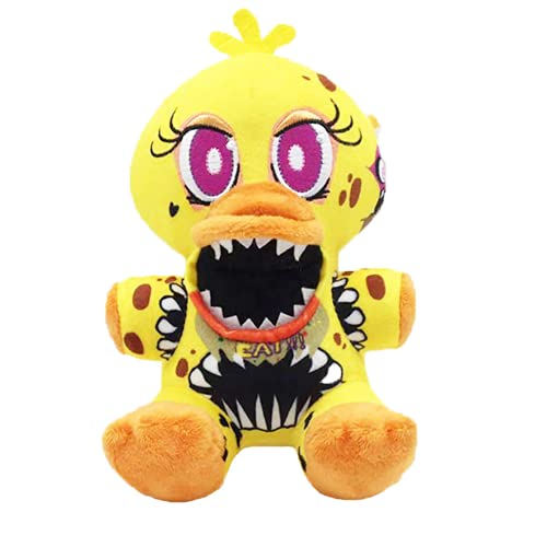 FNAF Plushies - (Twisted Ones Chica plush) - Five Nights At Freddy's Plush, Five Nights Freddy's, Fnaf Plushy, Freddy Plush, FNAF Plush, Nightmare Chica Plush, Stuffed Animal, Fnaf Nightmare Plush