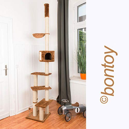 Das 3 Ebene Bontoy Katzenbaum / Höhenverstellbar