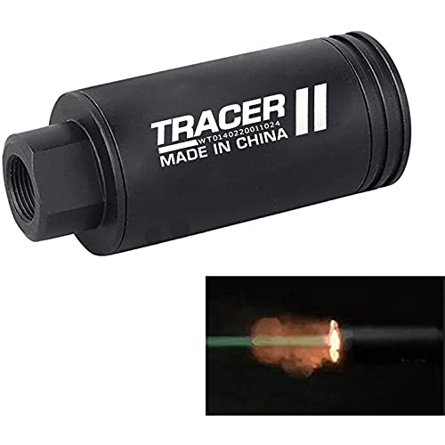 WoSporT Mini Simulated Spitfire Tracer Unit Lighter S Tactical Airsoft Automatic Gun Pistol Light BBS Glow in Dark for 14mm CCW / 10mm CW Thread M14 CCW Thread to M11 CW Thread Airsoft Guns Pistol