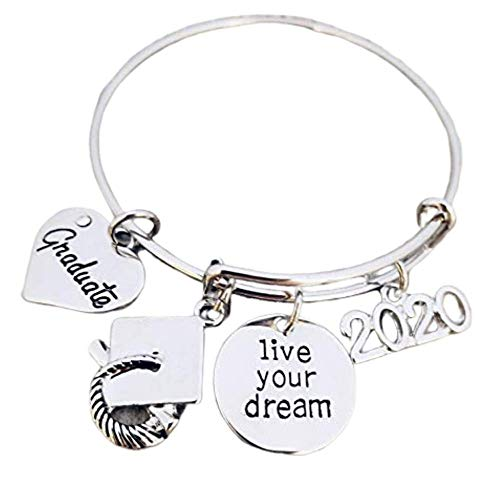 Infinity Collection Graduation Bangle Bracelet-Graduation Gift, for Graduates, Class of 2020