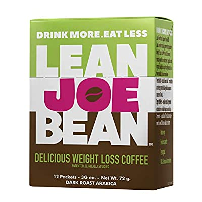 Lean Joe Bean Instant Coffee | from The Star Trainer on The Biggest Loser | Slimming & Detox Cleanse Blend | Keto Friendly Bulletproof Coffee | Dark Roast Arabica Coffee from LBM, LLC.