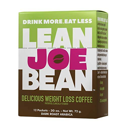Lean Joe Bean Instant Coffee | from The Star Trainer on The Biggest Loser | Slimming & Detox Cleanse Blend | Keto Friendly Bulletproof Coffee | Dark Roast Arabica Coffee (12) (Best Share Brazilian Slimming Coffee Uk)