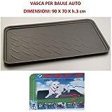 Compatible con Seat Ibiza Bolsa DE Tronco para Coches Bonnet Trasero Impermeable Adecuado para Transporte DE Perros Animales CONTENEDOR Deslizante Universal 90X70XH.3CM