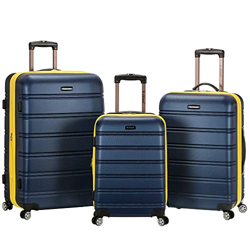 Rockland Melbourne Hardside Expandable Spinner Wheel Luggage, Navy, 3-Piece Set (20/24/28)