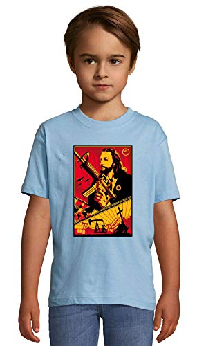 Atprints What Would Republican Jesus do Funny Slogan Heaven Blue Crew Neck Kids T-Shirt 106-115 (6 Year)