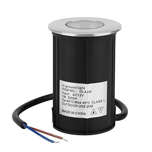 Foco LED Resistente al Agua fácil de Instalar, Foco, ABS de Acero Inoxidable 1W 12V Balcón para jardín