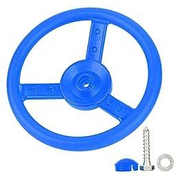 Alomejor Plastic Steering Wheel Children's Game Small Steering Wheel Ideal for Kids Children Climbing Frame Tree House Play House