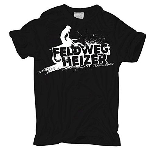 Männer und Herren T-Shirt Feldwegheizer (mit Rückendruck)