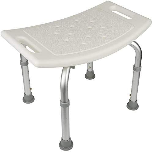 Duschpall, duschstol, justerbar duschstol, ABS + aluminiumrör