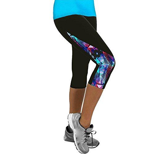 Homebaby 3/4 Pantaloni Donna Fitness Push Up - Leggings Modellante a Alta Vita Spandex Leggings da Yoga Donna Sportivi Eleganti Ragazza Opaco Palestra Leggings
