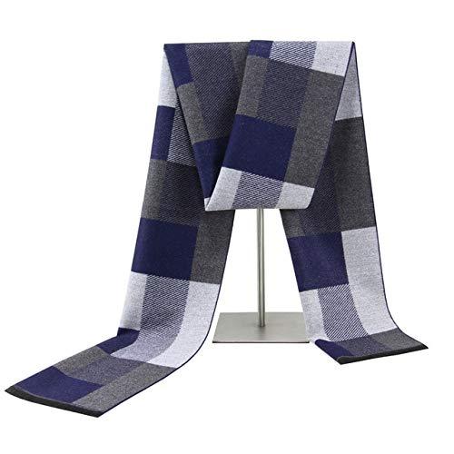 TOSISZ Sciarpa per Uomo Sciarpa da Uomo Sciarpa Calda di Mezza età Sciarpa Invernale Calda Sciarpa in Cashmere Sciarpa Morbida-Colore Immagine