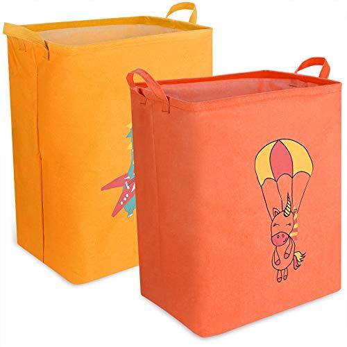 Aufbewahrungsbox GOLDGE 2PCS Spielzeugbox Faltbar Spielzeugkiste für Kinderzimmer 50 * 40 * 25cm