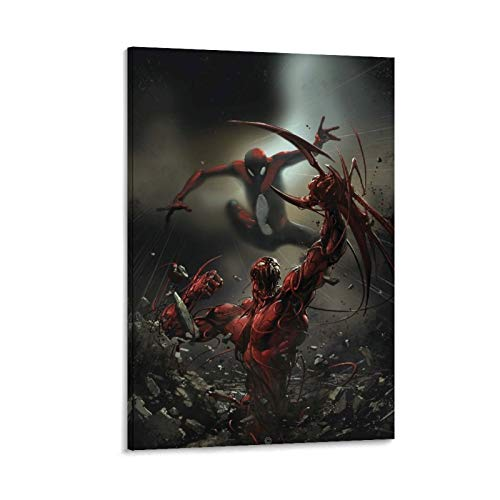 DRAGON VINES Póster de Spiderman Vs. Carnage destrozado, diseño de Spiderman Vs. Carnage