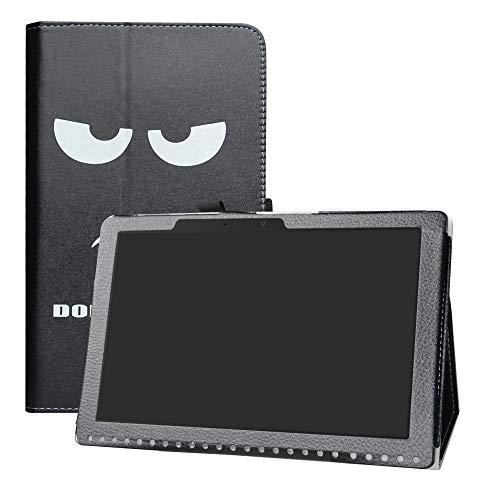 """LFDZ Acer Iconia One 10 B3-A50 Hülle, Schutzhülle mit Hochwertiges PU Leder Tasche Case für 10.1"""" Acer Iconia One 10 B3-A50 Tablet,Don't Touch"""