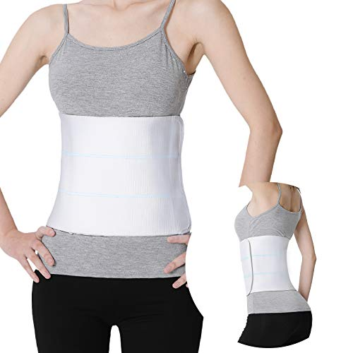 """Abdominal Binder Post Surgery for Men and Women, Postpartum Tummy Tuck Belt Provides Slimming Bariatric Stomach Compression,High Elasticity, Breathable - (45"""" - 60"""") 3 PANEL - 9"""""""