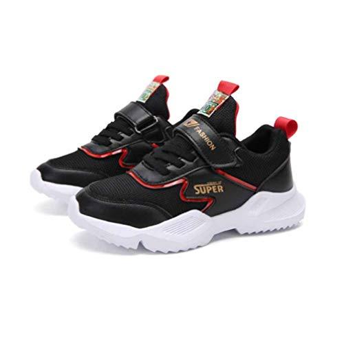 Feidaeu Kinder Sportschuhe das ganze Jahr über universal Mittelschule Kinder schüler wild Schuhe Leder Mesh atmungsaktive lässige Laufschuhe