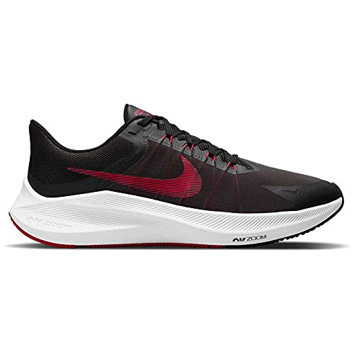 Nike Wmns Winflo 8, Running Mujer, Black Fireberry Dk Smoke Grey White, 38 EU