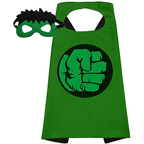 Superhero Capes and Mask for Kids Superhero toys And Superhero Costumes Party Best Kids Gifts (Hulk)