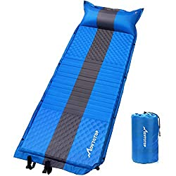 MOVTOTOP camping mat, inflatable air mattress, comfortable air bed, lightweight mattress, inflatable sleeping pillow, ideal for hiking, traveling and backpacking (self-inflating)