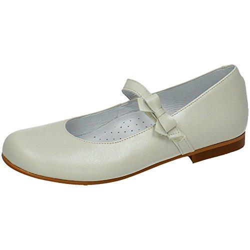 BAMBINELLI 3822 Merceditas Piel Lazo NIÑA Zapato COMUNIÓN