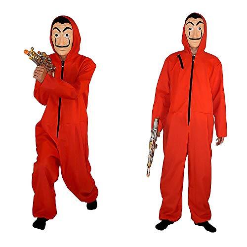 Het Papieren Huis La Casa De Papel Kostuum Rood Kostuum met Dali Masker Nieuwigheid Een Stuk Pak Film Cosplay Jumpsuit Het Papieren Huis