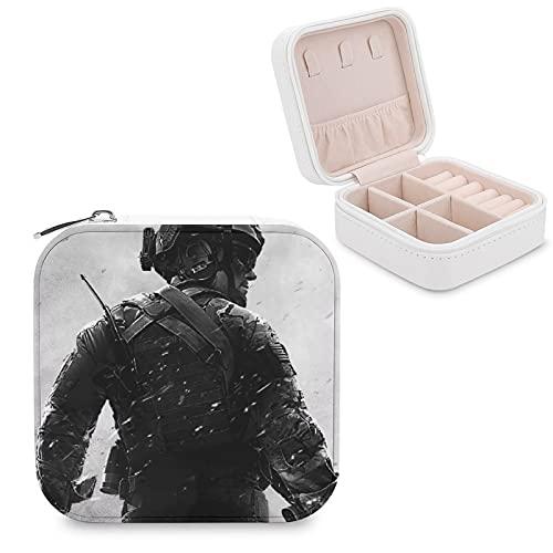 Call of Duty - Joyero de piel sintética, pequeño, portátil, de viaje, caja de almacenamiento para collares, pendientes, anillos, joyería para niñas y mujeres