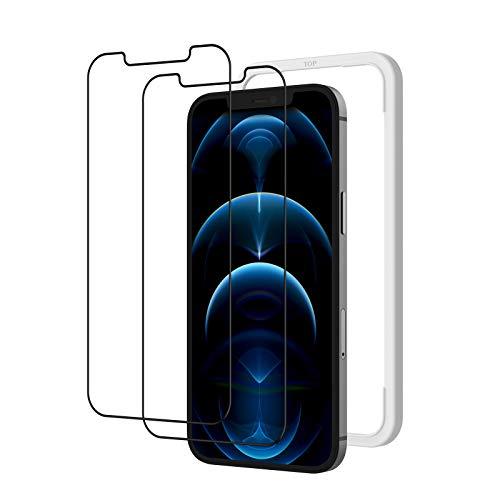 2枚セット NIMASO ガラスフィルム iPhone12 Pro Max 用 強化ガラス 液晶保護フィルム ガイド枠付き