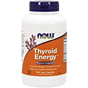 NOW Supplements, Thyroid Energy, Iodine and Tyrosine plus Selenium, Zinc and Copper, 180 Veg Capsules