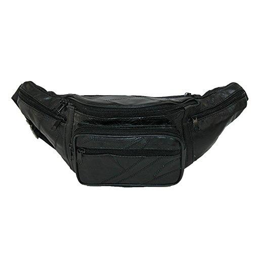 CTM Patch Leder Taillengürtel klein Gr. Einheitsgröße, Schwarz
