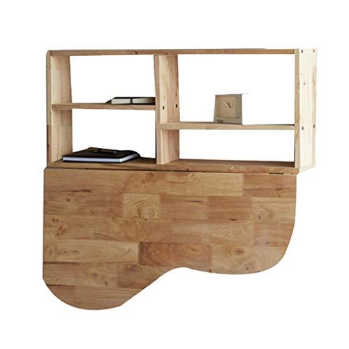 table basse simple de style japonais en bois Petite table de salon créatif Support mural Étagères murales (Color : Wood color)