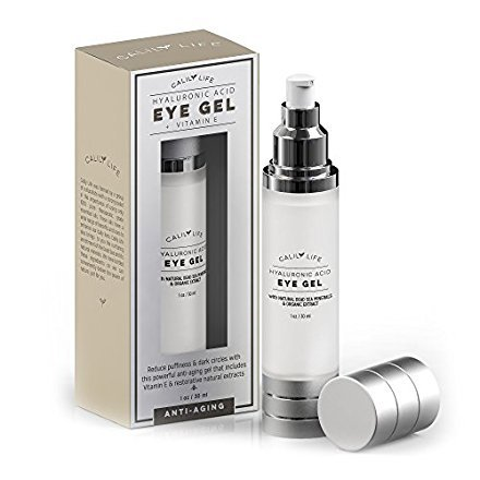 Calily Life Hyaluronic Acid Eye Gel + Vitamin E with Dead Sea Minerals, 1 Oz. – Deep Penetration Formula - Anti-Wrinkle and Anti-Aging - Minimizes Fine Lines, Puffiness and Dark Circles