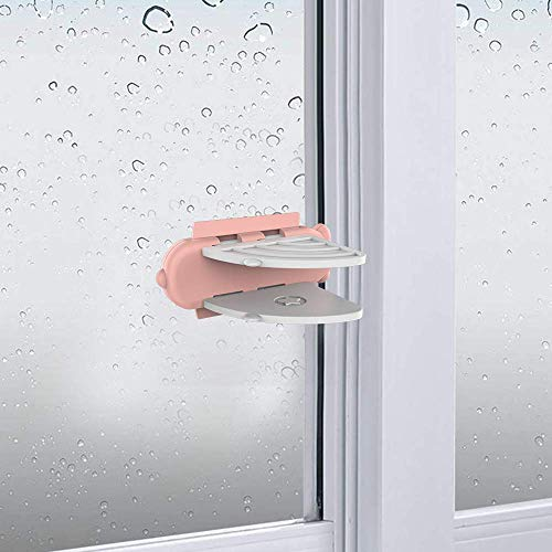 Sliding Door Lock (4 Pack), Child Safety Lock for Sliding Window Lock with Strong Adhesive Tape for Shower Sliding Door, Patio, Closet, Shutter and More