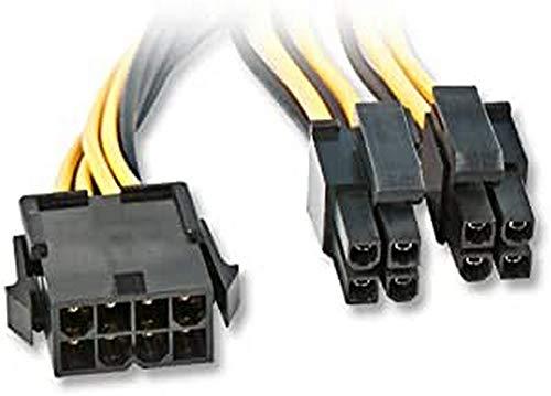 LINDY Stromkabel - 4 PIN ATX12V (M) - PCI-Express-Stromversorgung, 8-polig (W), 33163
